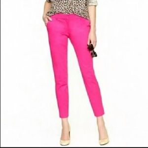 J. Crew hot pink ankle pants